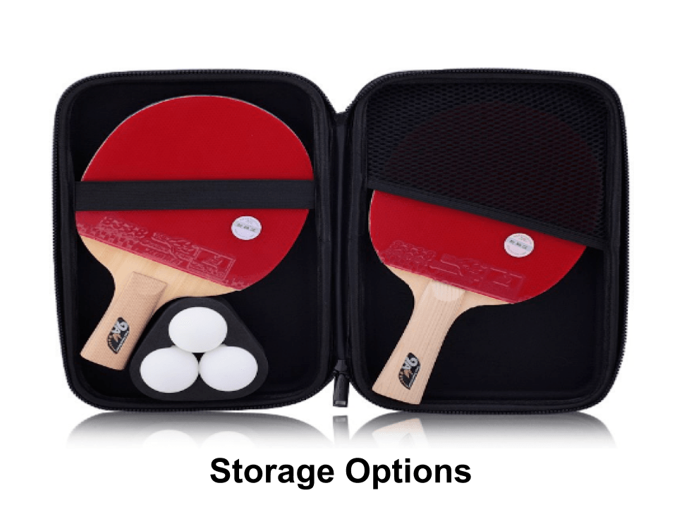 storage options - paddles and other accessories