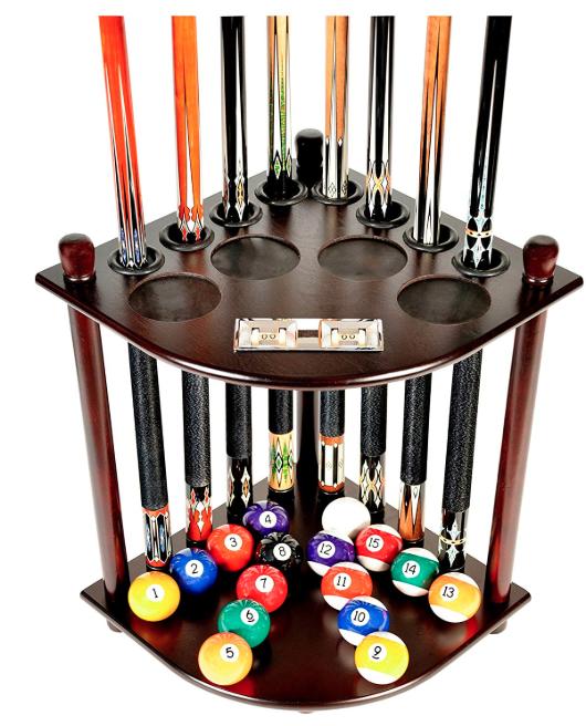 Iszy Billiards 8 Pool Cue Floor Corner Rack Review