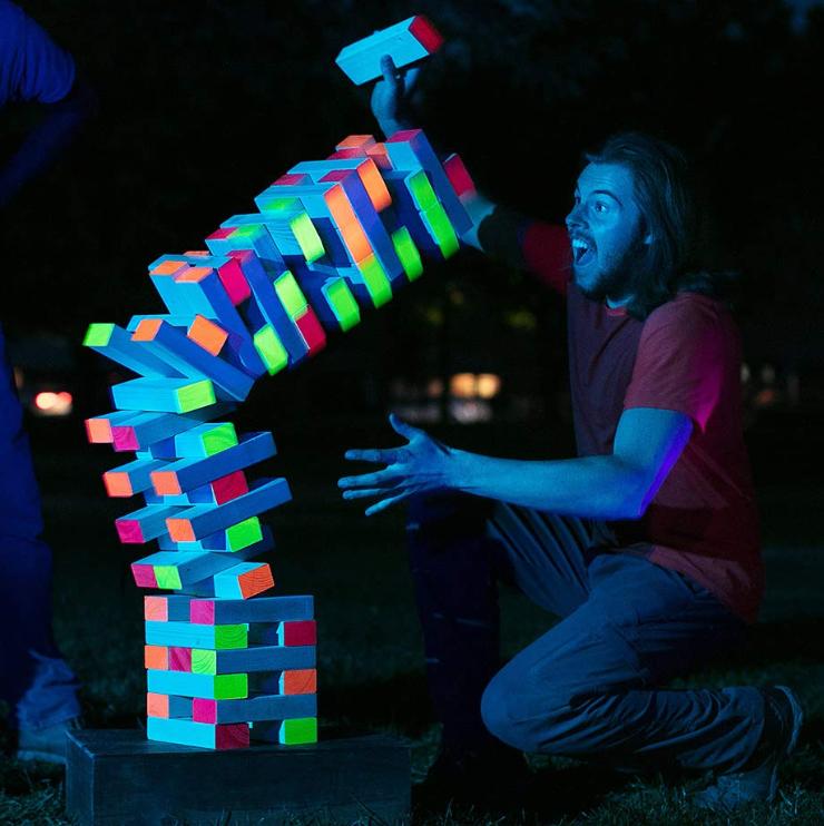 LIMELITE GAMES Ultimate Black Light Giant Tumbling Tower