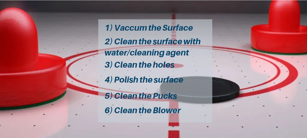 Air Hockey Cleaning Tips