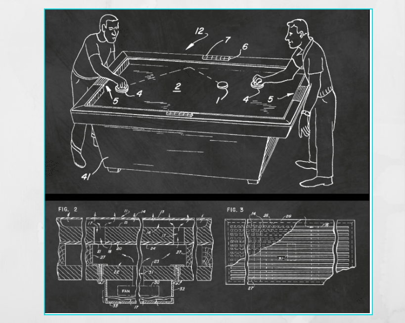 Air Hockey Table First Design Patent Application
