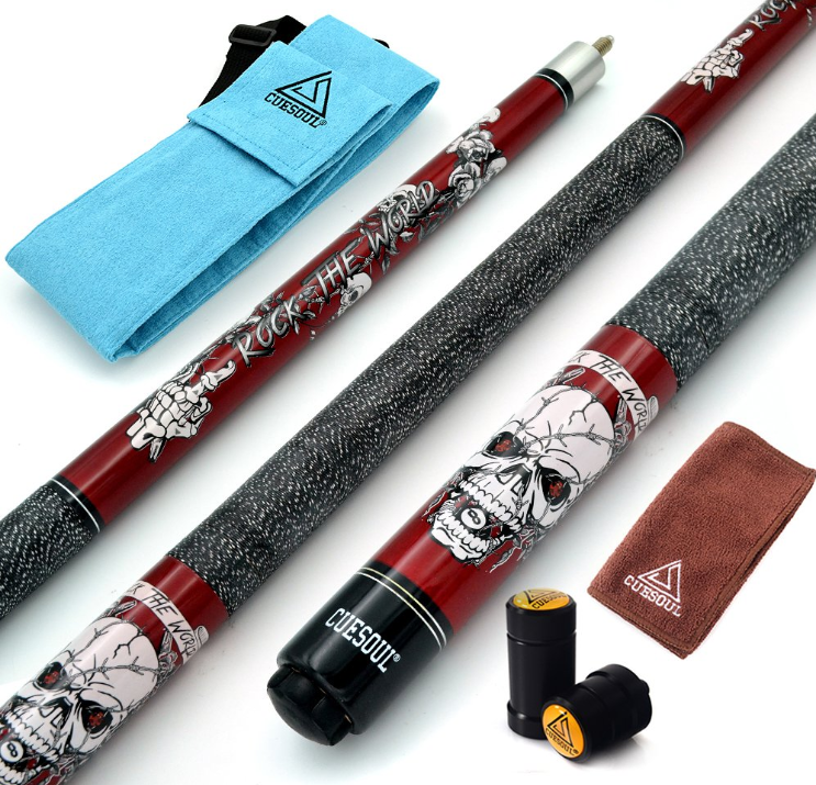 CUESOUL 57 inch Pool Cue Stick Kit Rockin Series