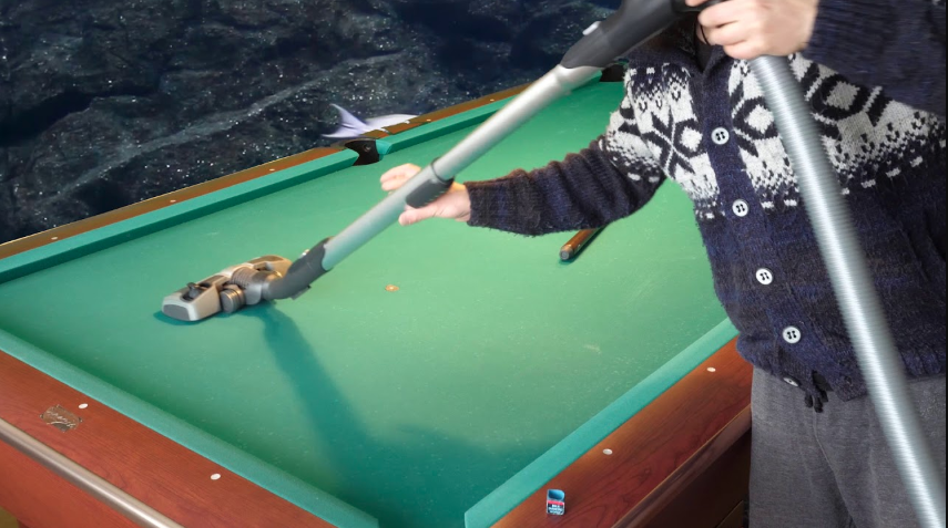 Cleaning Pool Table Felt using a Vacuum Cleaner