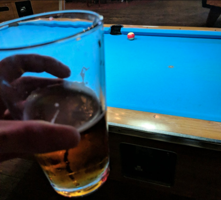 Pool Table Drink Spill