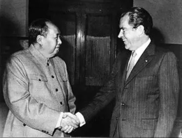 President Nixon meets China's Communist Party Leader Mao Zedong