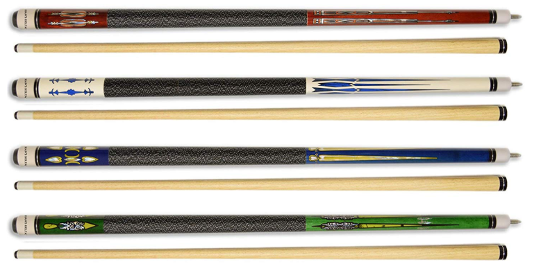 Set of 4 Pool Cues New 58''
