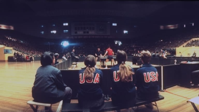 USA Ping Pong Team in China